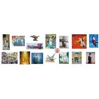 60 автора с над 150 произведения живопис, скулптура, графика и рисунка