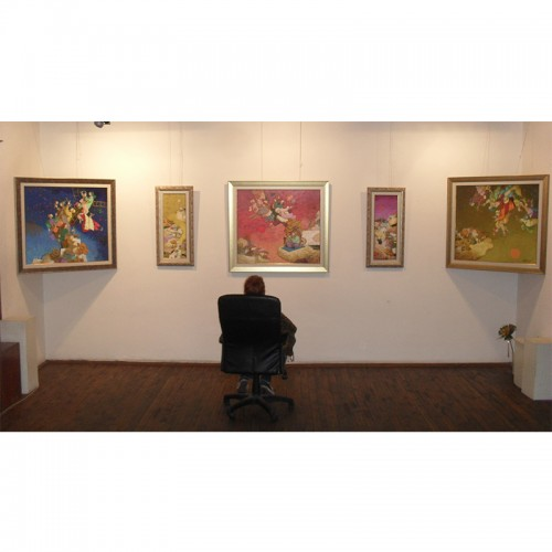 """Forgotten Afternoons""  painting exposition by Angel Gerdjikov for his 50th anniversary"