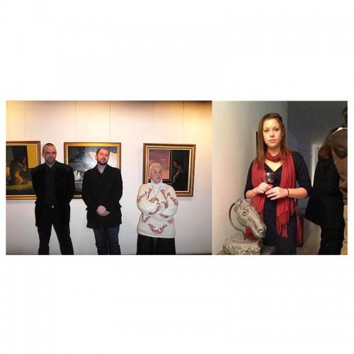 Изложба скулптура и живопис на Цветелина Ангелова и Никола Гулев в артистичния салон на галерия Възраждане