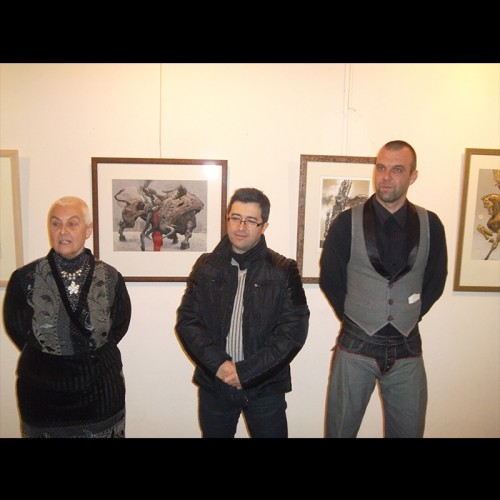 One of the most famous and awarded Bulgarian graphic artist in the world Julian Jordanov in Vazrazdane Gallery