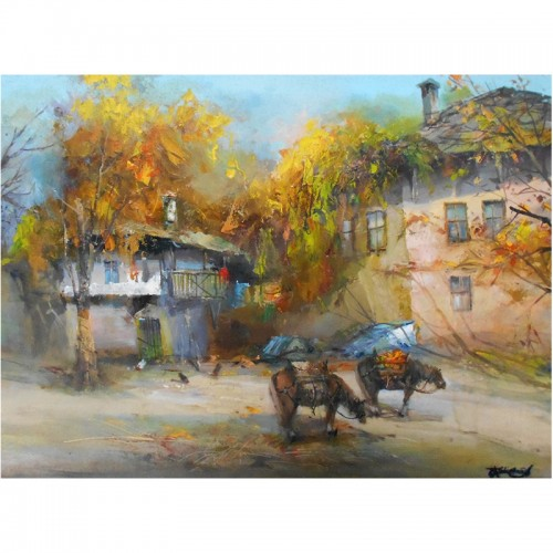 Autumn in the village of Lesko